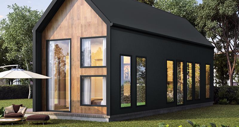 black cabin design